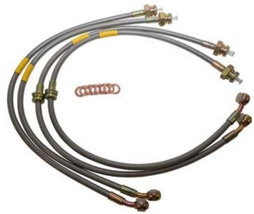 Plus 150mm Stainless Steel Brake Hose Kit - Discovery 2